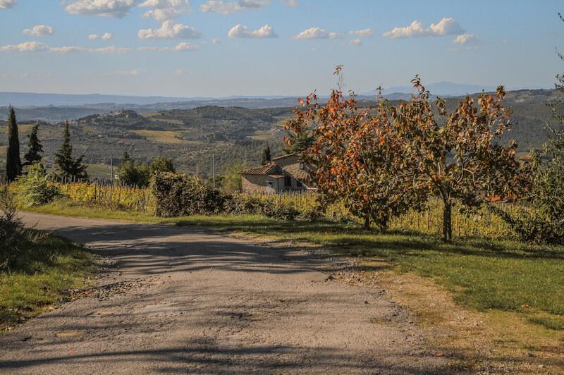 Toskana im Herbst Chianti Italien