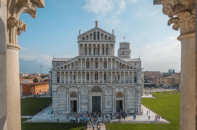 Toskana im Herbst Der schiefe Turm von Pisa