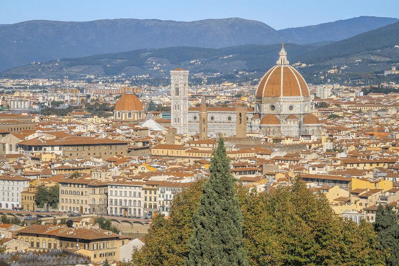 Toskana im Herbst Florenz Italien
