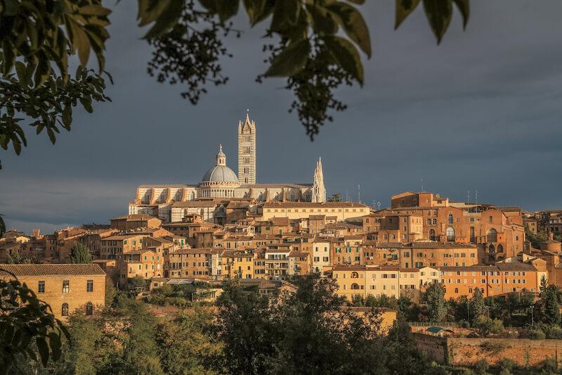 Toskana im Herbst Italien Siena