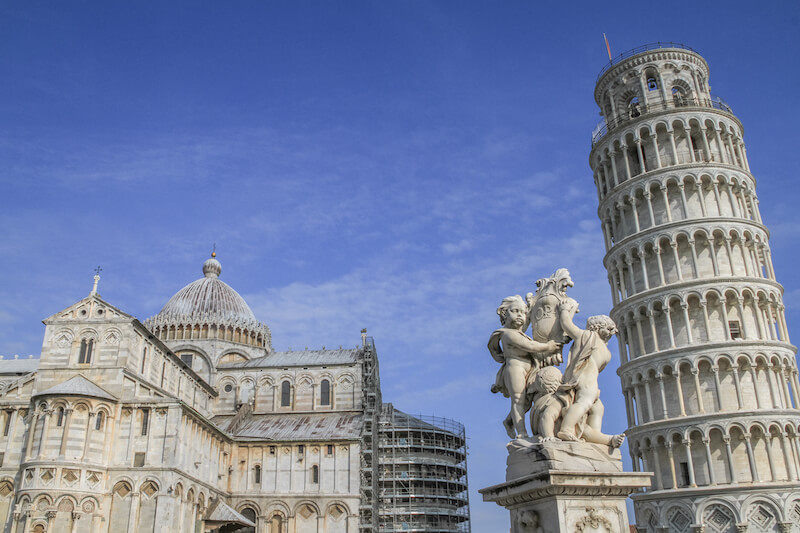 Toskana im Herbst Schiefer Turm von Pisa