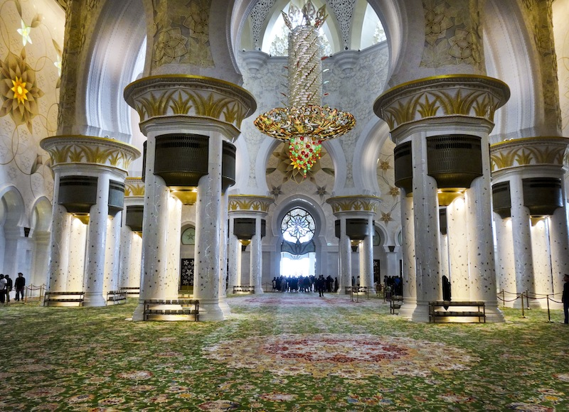 Ein Traum in Weiß Scheich Zayed Moschee in Abu Dhabi