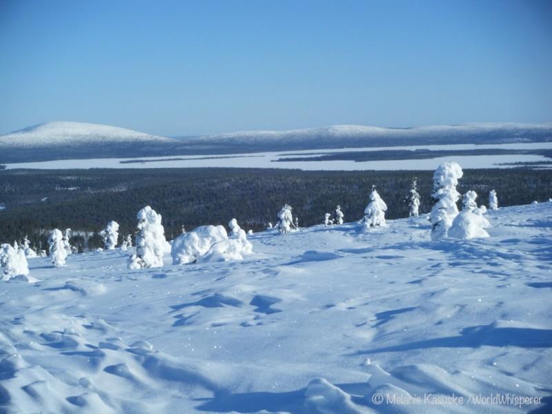 Grandiose Winterlandschaft in Finnland