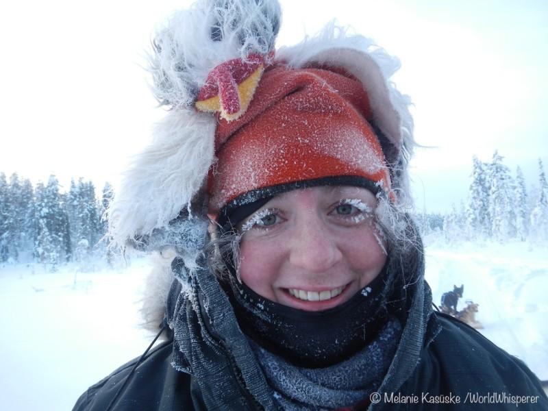 So siehts aus wenns kalt ist. Mel bei minus 24 Grad.