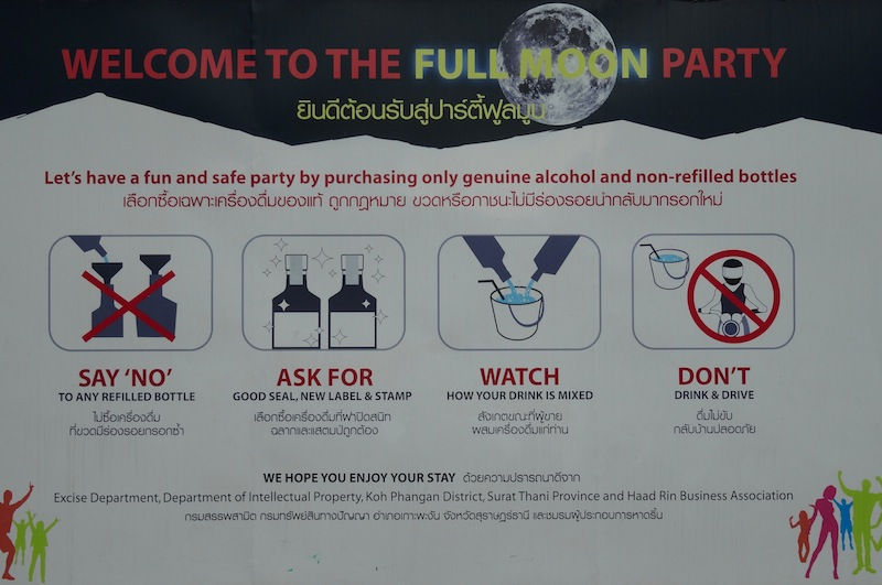 Full Moon Party Safety