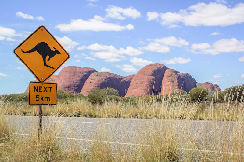 Ayers Rock Kata Tjutas Olgas Australien Outback