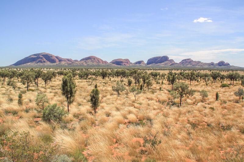 Ayers Rock Kata Tjutas Outback Australien