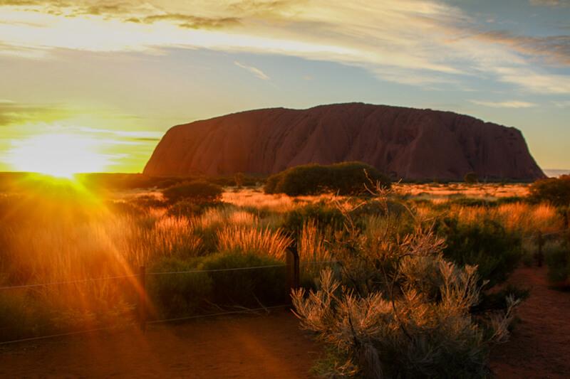 Ayers Rock Sonnenaufgang Uluru Australien Outback