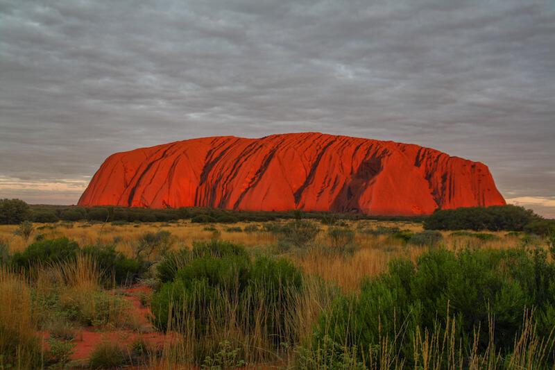 Ayers Rock Sonnenuntergang Uluru Australien Outback