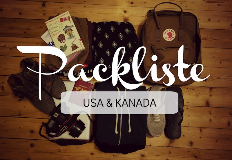 Packliste USA Kanada