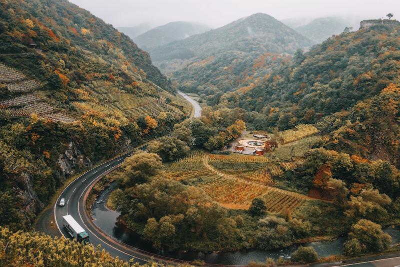 Rotweinwanderweg Ausblick