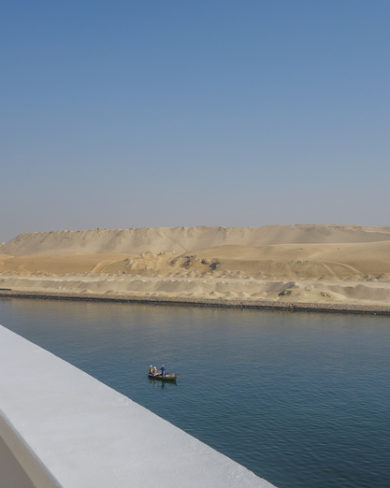 Suezkanal Kreuzfahrtschiff Passage Aegypten Golf von Aden