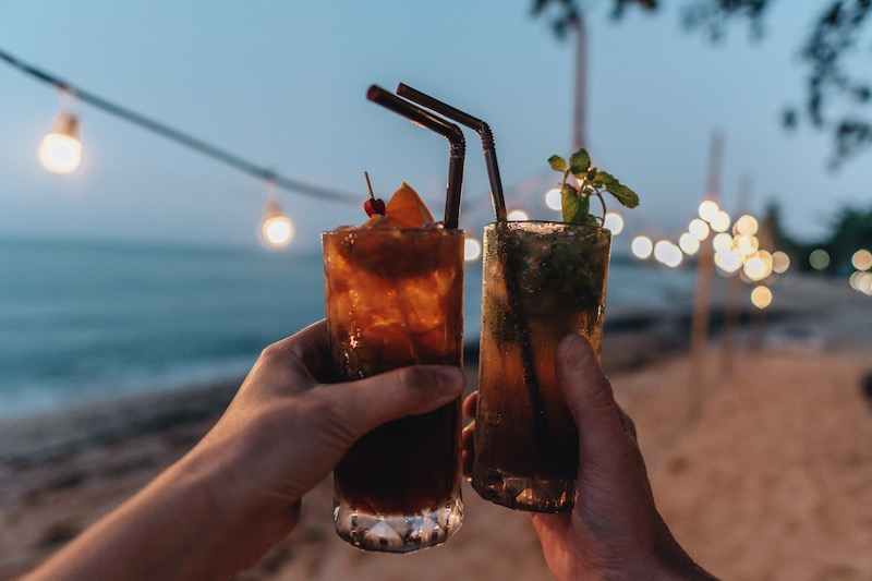 Koh Samui Mae Nam Beach Cocktails