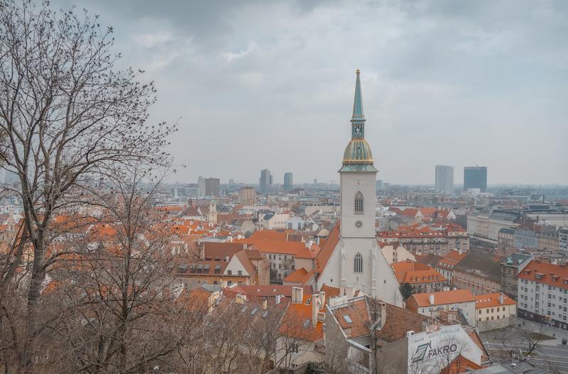 Bratislava Ausblick Altstadt