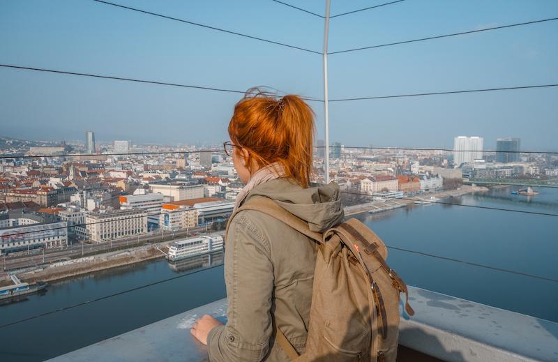 Bratislava Aussicht UFO Slowakei Donau