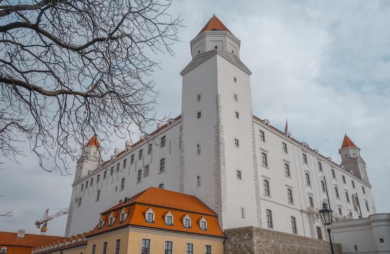 Burg Bratislava Slowakei Donau Altstadt