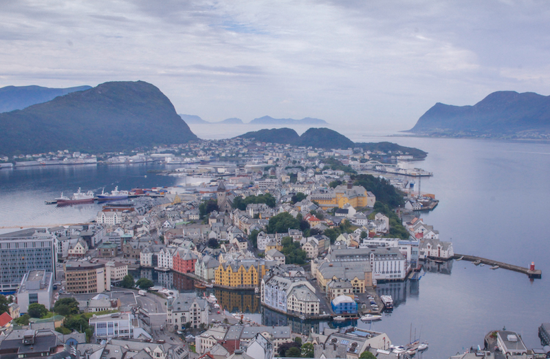 Norwegen Kreuzfahrt Alesund Aksla