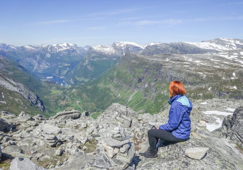 Norwegen Kreuzfahrt Dalsnibba Pass Geirangerfjord