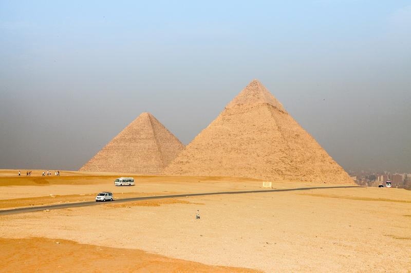 Pyramiden von Gizeh Aegypten