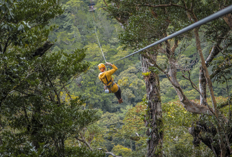 Costa Rica Rundreise Zipline Monteverde