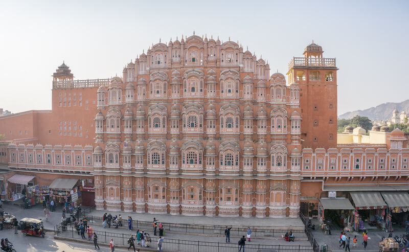 Jaipur Hawa Mahal Past der Winde