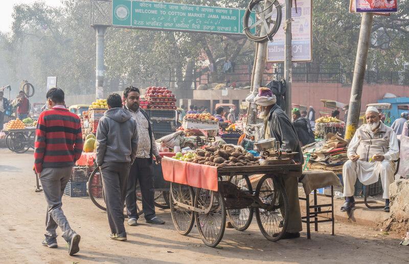 Nordindien Rundreise Old Delhi Markt