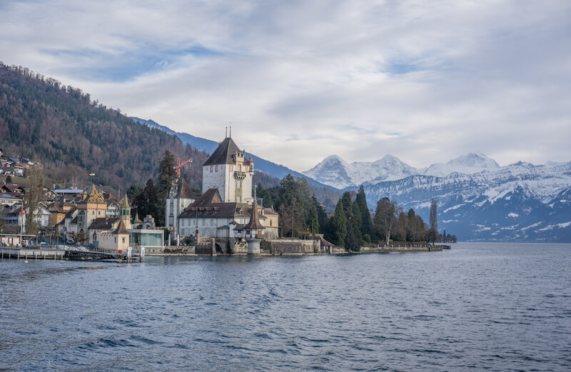 Interlaken Schweiz Thunersee Oberhofen