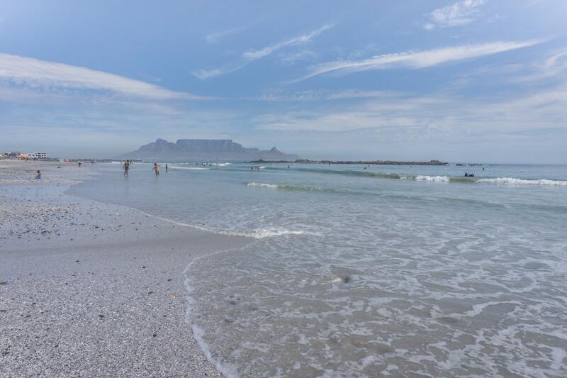 Kapstadt Sehenswuerdigkeiten Blouberg Beach