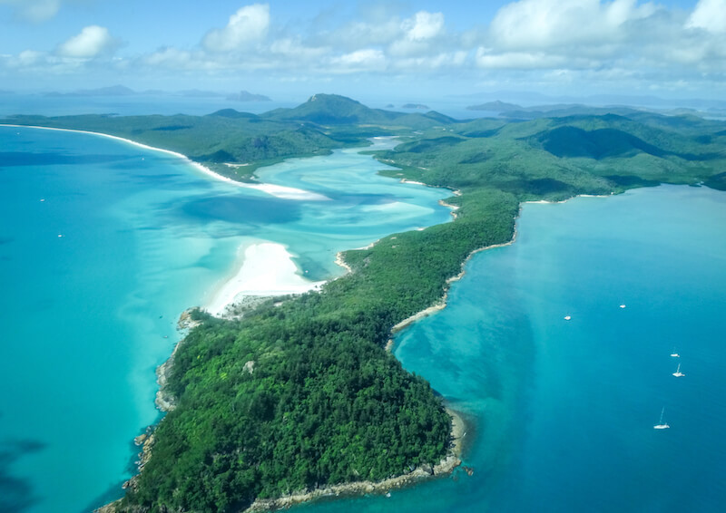 Australien Ostkueste Whitsunday Islands Whitehaven Beach