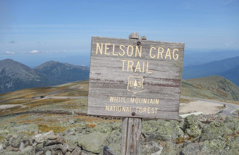 Neuengland Mount Washington Nelson Crag Trail