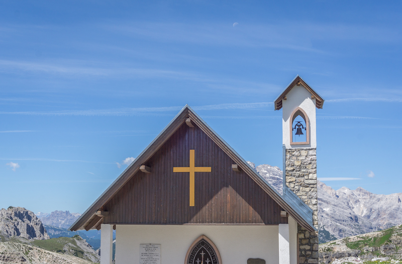 Drei Zinnen Wanderung Kirche Sextner Dolomiten