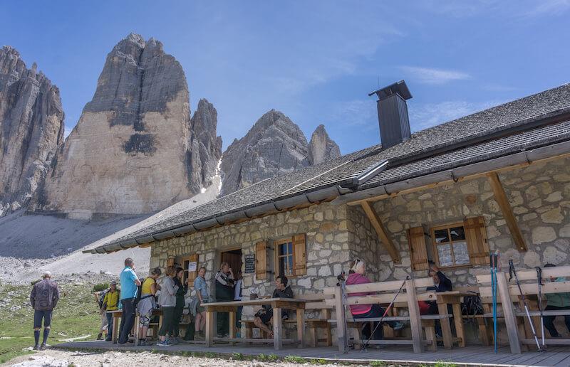 Drei Zinnen Wanderung Lange Alm Huette Dolomiten
