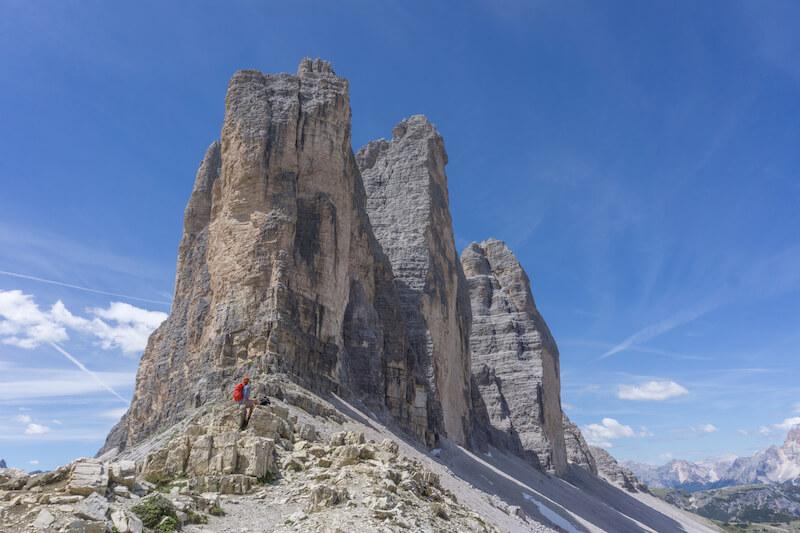 Drei Zinnen Wanderung Patternsattel Dolomiten