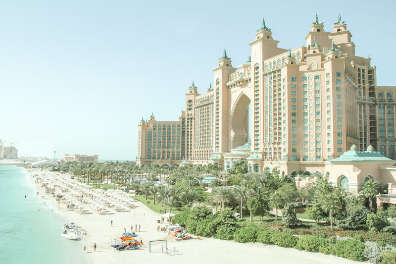 Dubai Atlantis Aquaventure Wasserpark Strand