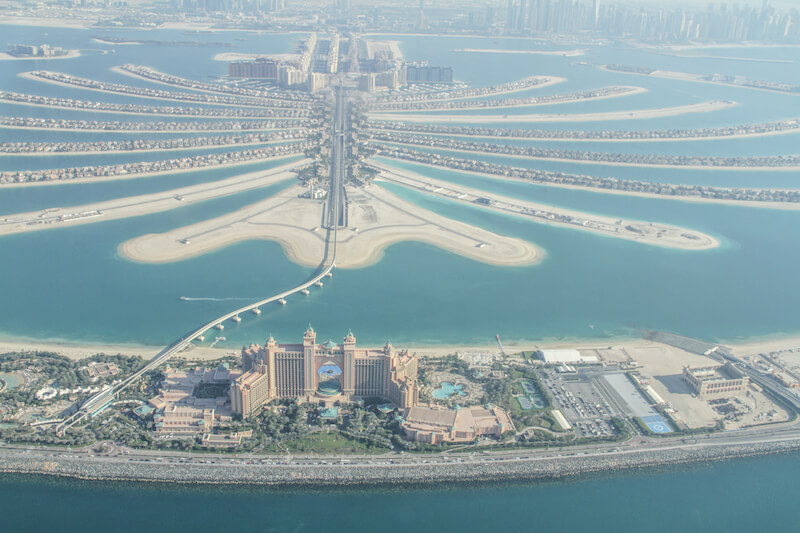 Dubai The Palm Jumeirah Monorail