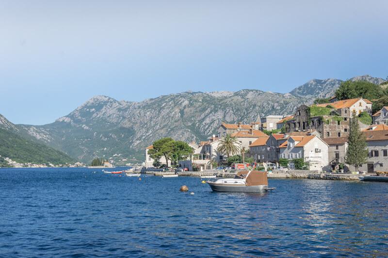 Bucht von Kotor Perast Montenegro