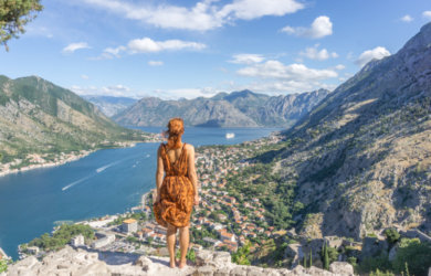 Die Bucht von Kotor Montenegro Perast Fortress