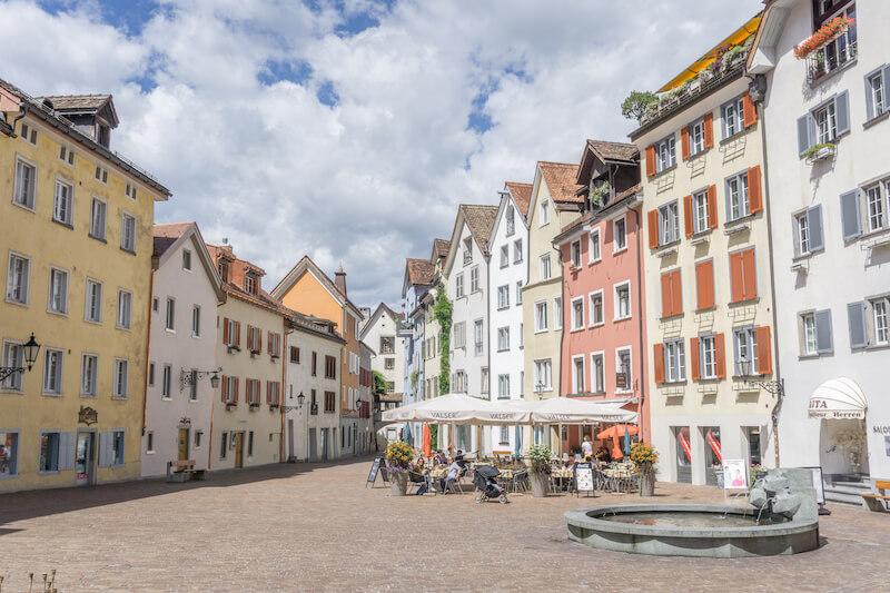 Graubuenden Kanton Schweiz Chur Altstadt