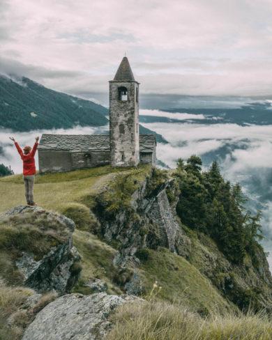 Graubuenden Schweiz Alpe San Romerio