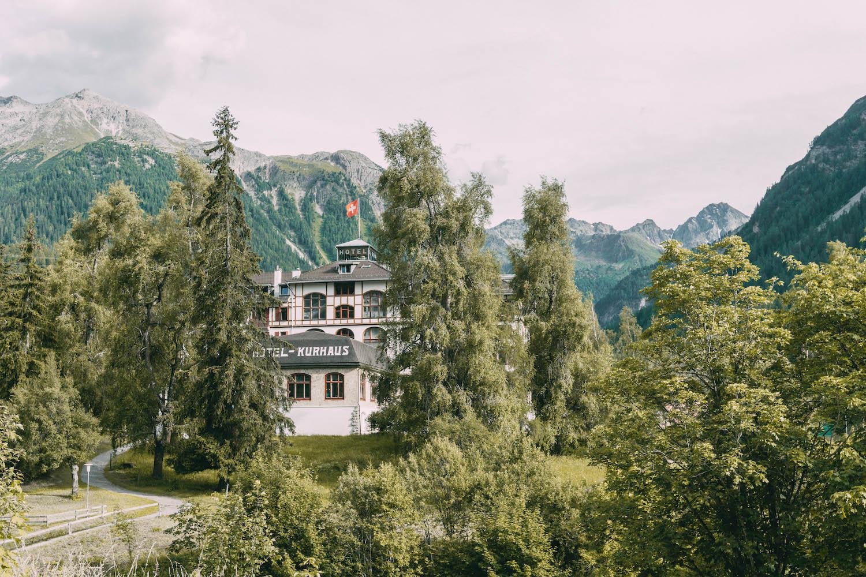 Graubuenden Schweiz Kurhaus Berguen Bernina Express