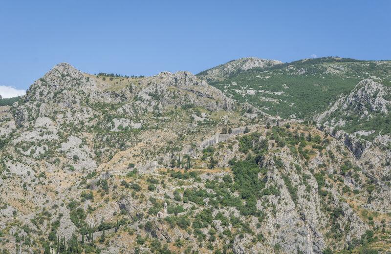 Kotor Fortress Aussicht Montenegro Kotor Bucht