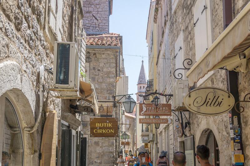 Montenegro Rundreise Budva Altstadt