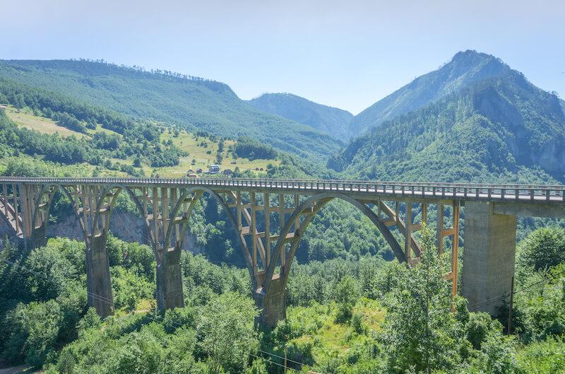 Montenegro Rundreise Tara Bridge Canyon