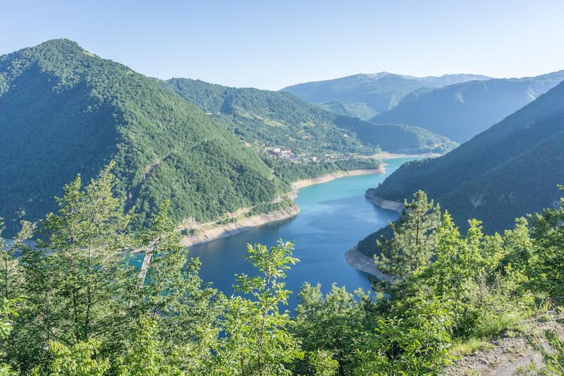Montenegro Piva Schlucht Piva Stausee Pivsko jezero