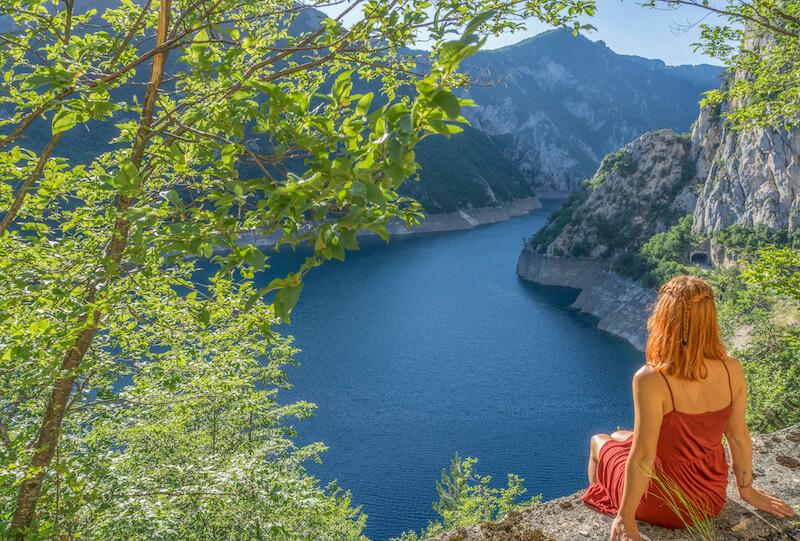 Montenegro Roadtrip Piva Schlucht Piva Fluss