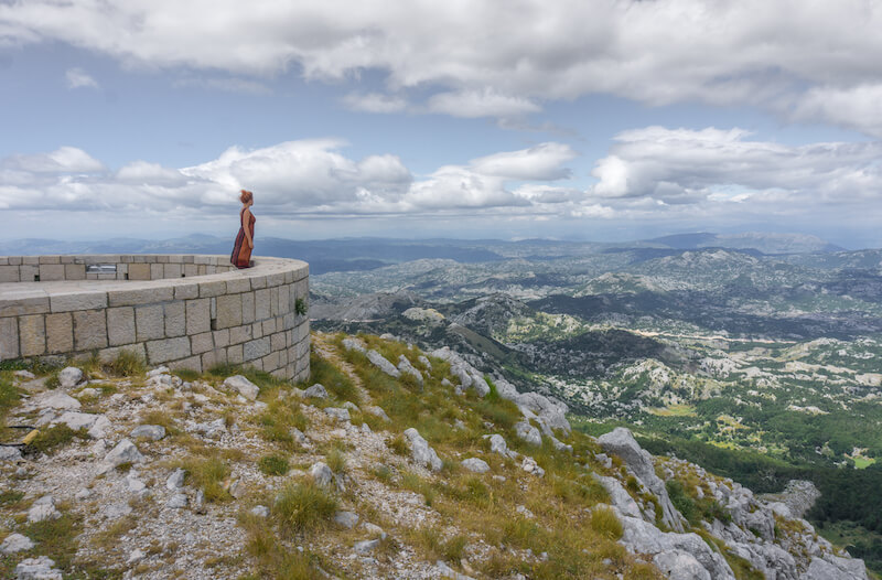 Montenegro Rundreise Lovcen Nationalpark Mausoleum