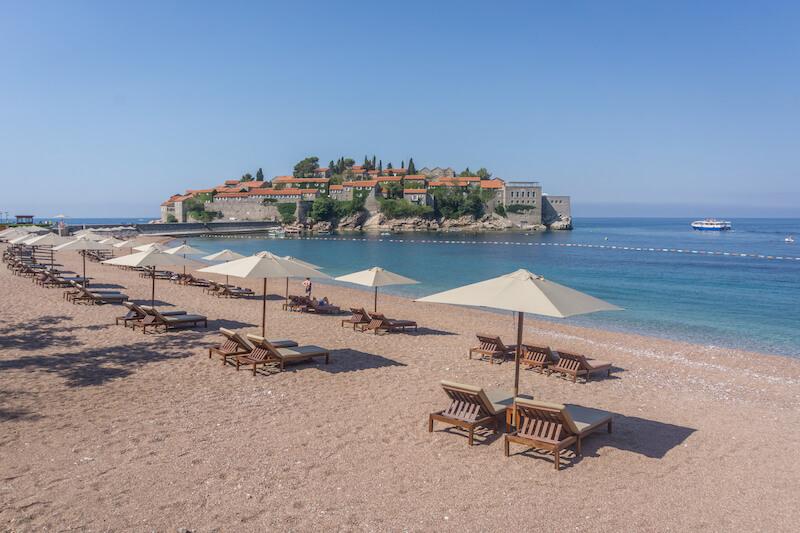 Montenegro Sveti Stefan Strand