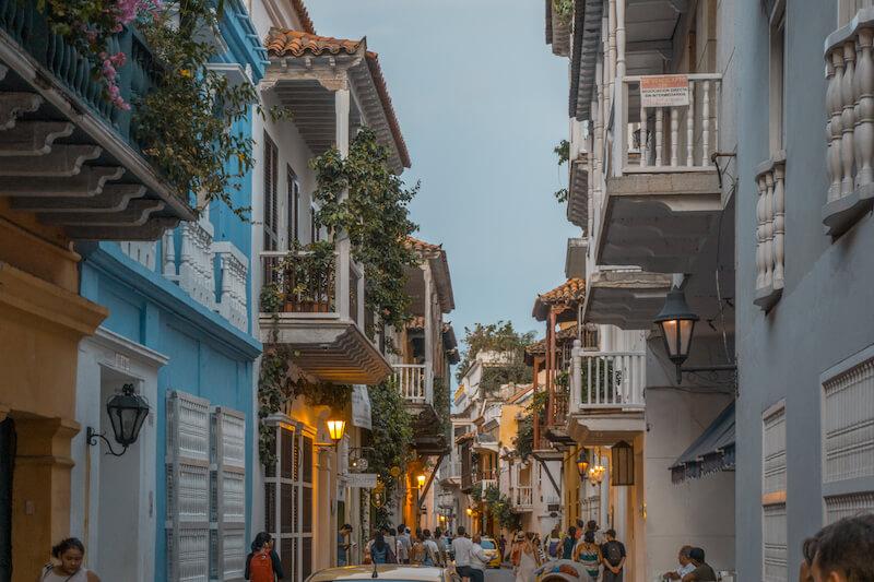 Cartagena de Indias Altstadt am Abend