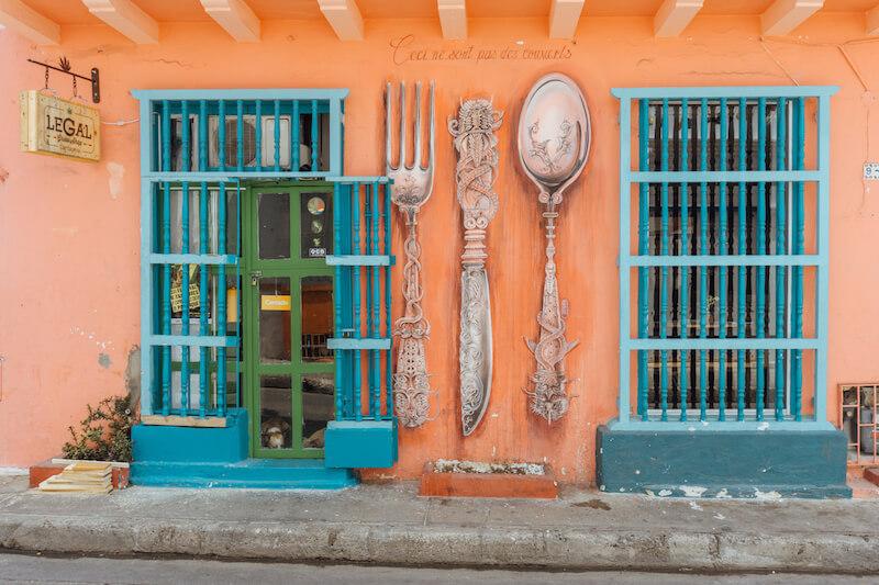Cartagena de Indias Essen und Trinken Kolumbien