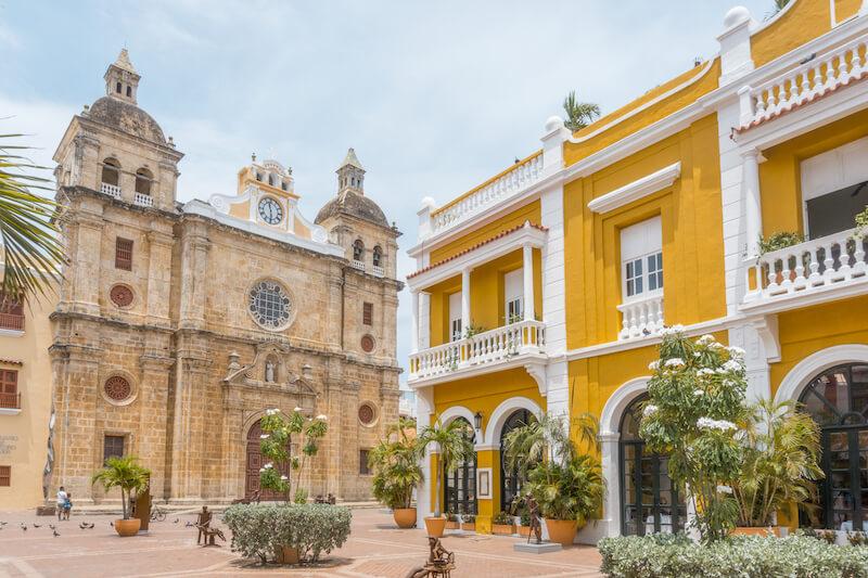 Cartagena de Indias Kolumbien Plaza San Pedro Claver Kathedrale